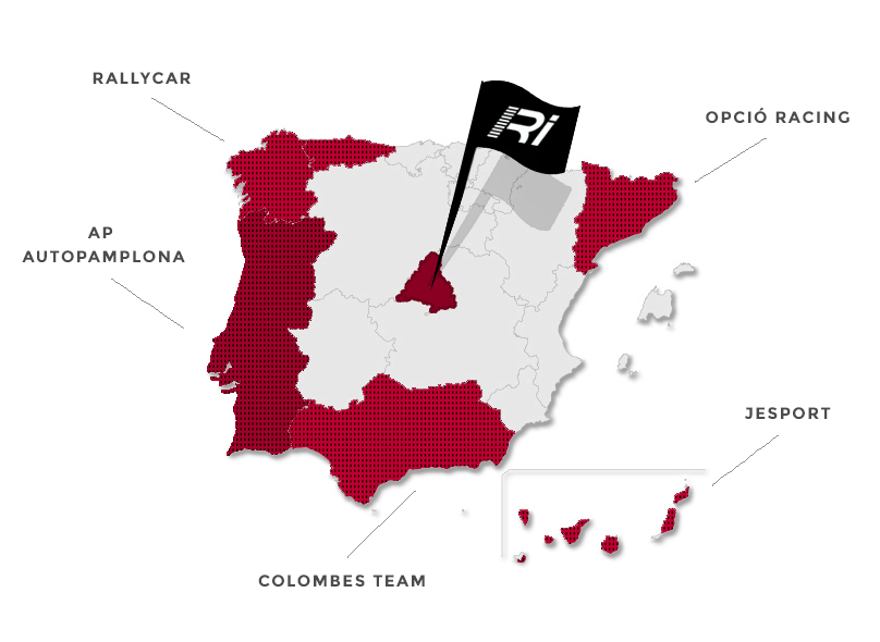 Distribuidores Racing Import Mapa