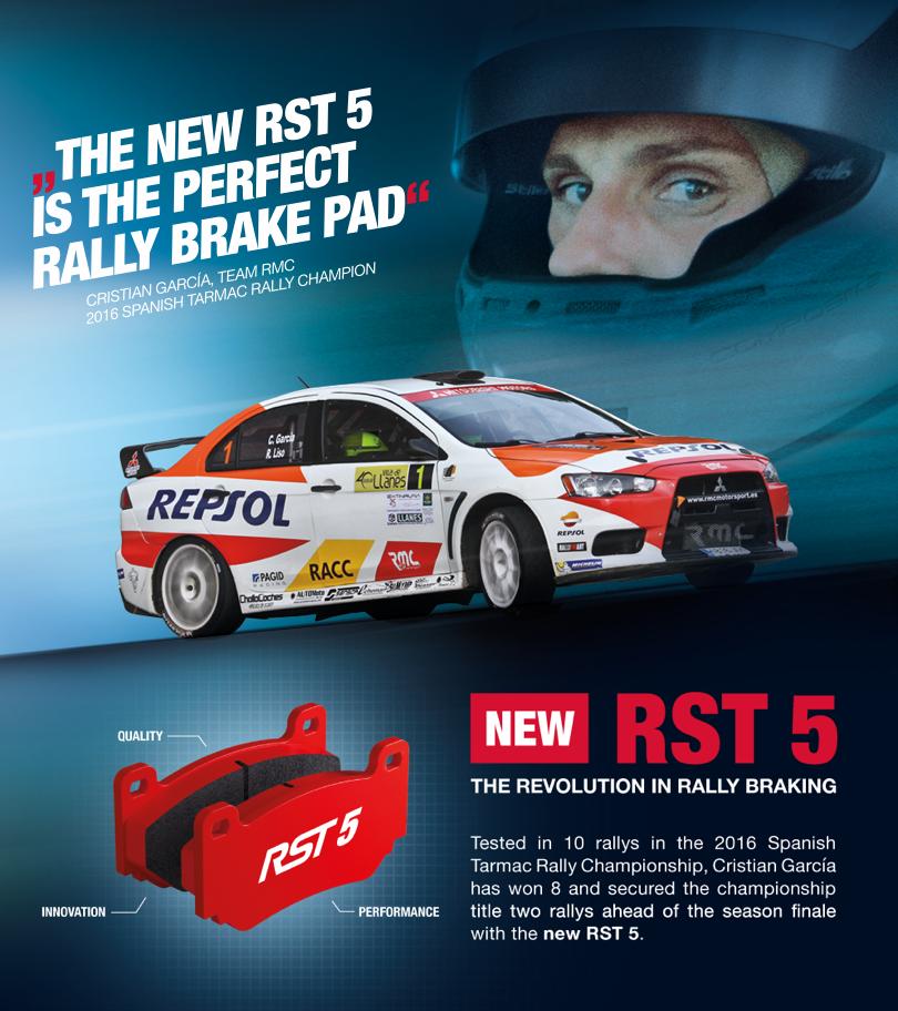 Nuevo compuesto RST5 de Pagid Racing